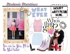 """""""Melanie Martinez"""" by crozilla ❤ liked on Polyvore featuring Cutie, Dr. Martens, Edge of Ember, Feather & Stone and Manic Panic"""