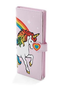 *gasp* Rainbow Unicorn Wallet... Love it! -->Bills and 'Corns Wallet