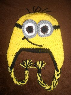 Crochet Hat inspire by the Minion (despicable me). $23.00, via Etsy.
