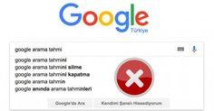Google önerilerini kaldırma