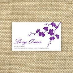 Orchid Kiss Place Card