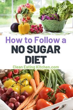 Learn how to follow a no sugar diet, with information about how going sugar free can benefit your health, plus meal ideas for sugar free breakfasts, lunches, snacks, and dinners. #sugarfree #nosugar #diet Healthy Habits, Healthy Choices, Healthy Snacks, Healthy Recipes, Cooking Recipes, Healthy Sugar, Easy Cooking, Eating Healthy, No Sugar Diet