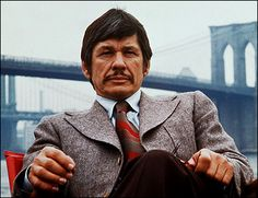 Charles Bronson...this is who my husband looks like.