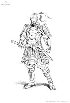 Mortal Kombat X - Kenshi Ronin & Tremor design sketches on Behance