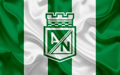 Download wallpapers Atletico Nacional, 4k, logo, Colombian football club, silk texture, white green flag, Categoria Primera A, Medellin, Colombia, football, Liga Aguila Tapas, Football Wallpaper, Sports Wallpapers, Colombia Football, Flag, Texture, Logos, Green, Silk