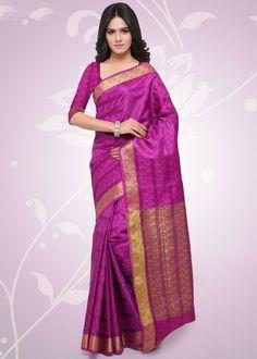 Rani Pink Balatan Silk Saree