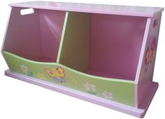 Liberty House Toys Wooden Collection Fairy 2 Bin Storage Unit 39cm