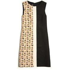 Giambattista Valli Leopard Colorblock Dress ($1,845) ❤ liked on Polyvore