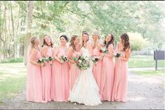 "Dream come ""Drew"" in Petal Amsale Bridesmaid, Pink Bridesmaids, Bridesmaid Dresses, Wedding Dresses, Pink Wedding Colors, Walking Down The Aisle, Photo S, Real Weddings, Gowns"