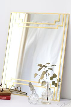 DIY miroir art deco DIY art deco mirror www c - My Home Decor Decor, Interior, Diy Mirror, Art Deco Interior, Diy Interior, Art Deco Mirror, Home Decor, Diy Table Saw, Interior Deco