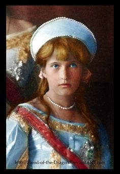 Anastasia, strawberry blonde, like her father's baby hair.