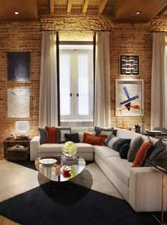 The appeal of red brick inside the house