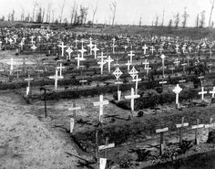 Essex Farm Cemetery, photographed shortly after the war
