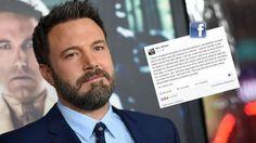 Ben Affleck confesó sus adicciones en un emotivo comunicado El actor de Hollywood escribió una carta abierta en Facebooken la que contó sus problemas con el alcohol. Fuente ... http://sientemendoza.com/2017/03/15/ben-affleck-confeso-sus-adicciones-en-un-emotivo-comunicado/
