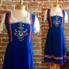Vintage Oktoberfest Bavarian Dirndl Costume Dress Alpen Style