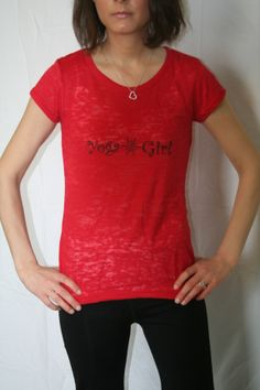Yoga Short Sleeve Burnout Tee Can be purchased on Etsy at belightclothing
