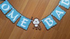 Monkey Baby Shower Banner Monkey Banner  by ReginesPartyBoutique