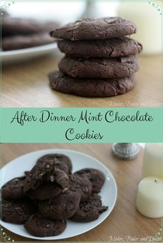 Delicious mint chocolate cookie recipe with an after dinner mint filled centre. yummy moist and chewy cookies. Chocolate Cookie Recipes, Chocolate Cookies, No Cook Desserts, Dessert Recipes, After Dinner Mints, Mint Chocolate, Chocolate Heaven, Mint Recipes, Mint Cookies