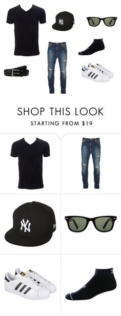 """Mens outfit"" by migdalia-leroux on Polyvore featuring Nudie Jeans Co., New Era, Ray-Ban, adidas, Under Armour, Tommy Bahama, men's fashion and menswear"