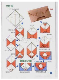 Origami Envelopes How To Make Origami Envelope 25 Best Origami Envelope Ideas On - Origami Instructions❤❤❤Origami envelopes (I have this origami book at home!origami envelope tutorial, looks a little tricky. Origami Diy, Origami Paper Folding, Origami Envelope, Origami And Kirigami, Diy Envelope, Paper Crafts Origami, Diy Paper, Origami Letter, How To Fold Envelope