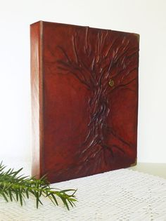 Photo Album Leather Album 4x6 Christmas Gift Idea by AnnaKisArt