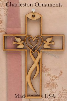 Beautiful Cross with Doves Ornament by PalmettoEngraving on Etsy