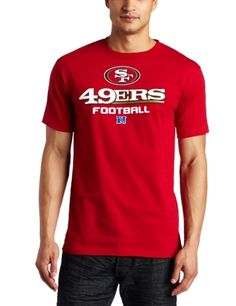NFL Men's San Francisco 49Ers Critical Victory V Short Sleeve Basic Tee (Bright Cardinal, XX-Large) by Majestic. $19.95