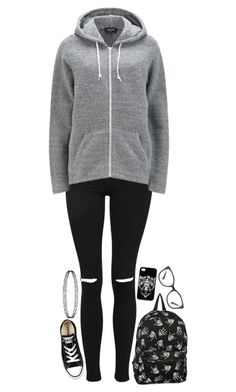 """Thanks for the memories"" by xxghostlygracexx ❤ liked on Polyvore featuring Topshop, A.P.C., Converse and Armani Exchange"