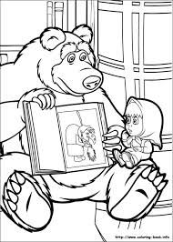 Resultado de imagen para coloring masha and the bear