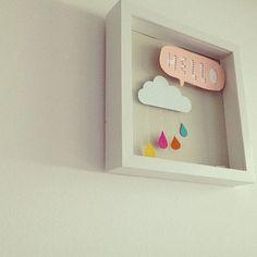 """Ideias fofas de como usar as """"Nuvens"""", elemento que está em alta na decoração do quartinho de bebê."""