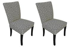 Black Chloe Side Chairs, Pair on OneKingsLane.com