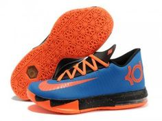 check out 53db8 90fa9 Shop Nike Kevin Durant KD 6 VI Royal Blue Black-Orange For Sale Discount  black, grey, ...