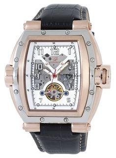 Wellington WN109-382 - Reloj de caballero automático, correa de piel color negro