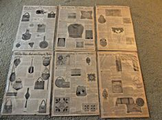 ANTIQUE-EARLY 1900's-FANCYWORK PATTERNS LOT-COMFORT MAGAZINE-PURSES & BAGS