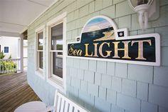 I like this fine-looking photo Beach House Names, Beach House Signs, Beach Signs, Home Signs, Beach Cottage Rentals, Beach Cottage Decor, Cottage Names, Cottage Signs, Outer Banks Vacation Rentals
