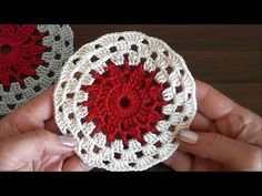 Crochet Round Motif Tutorial. Very easy for beginners