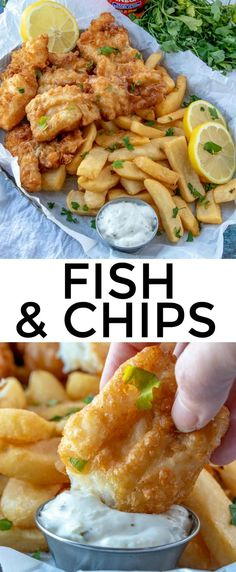 Fish and Chips – The Perfect Seafood Meal! Fish and Chips – The Perfect Seafood Meal!,Essen Quick and easy these Fish and Chips are battered in a delicious beer batter and fried until golden. Best Fish Recipes, Tilapia Fish Recipes, Fried Fish Recipes, Salmon Recipes, Healthy Recipes, Tilapia Fish And Chips Recipe, Fish And Chips Recipe Without Beer, Fried Fish Batter Recipe, Recipes With Fish