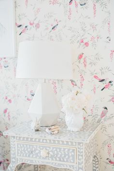 A Dream Little Girl's Nursery Wrapped in Whimsical Wallpaper