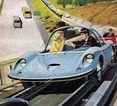 Retro Future City | 33 Amazing Concepts About Future Transportation: Past & Present ...