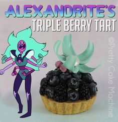 Recipe: (Steven Universe Dessert Series, Pt. 11) Alexandrite's Triple Berry Tart | Pretty Cake Machine