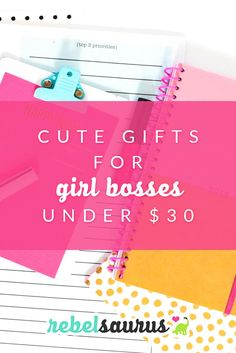 Are you a girl boss or a female entrepreneur or blogger?  Or maybe you know someone who is who needs a fancy gift. :)  Here are some awesome, empowering cute gifts for girl bosses under $30 to inspire them to keep chasing after their dreams.