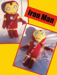 Handmade crochet Iron Man Doll Facebook/Hookedonhandicrafts