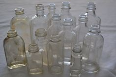 Clear Glass Vintage Old Medicine Bottle by PinewoodGallery on Etsy