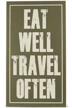 Eat Well Travel Often Rustic Wall Art