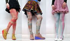 How to tie dye nylon stockings with common household supplies. Fun for kids.