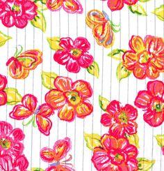 Fashion Cotton Fabric- Lurex Stripe Floral PinkFashion Cotton Fabric- Lurex Stripe Floral Pink,