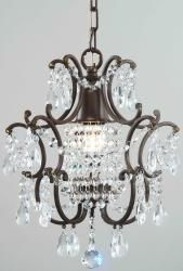 Clear Crystal Brown Base Chandelier - Overstock™ Shopping - Great Deals on Otis Designs Chandeliers & Pendants