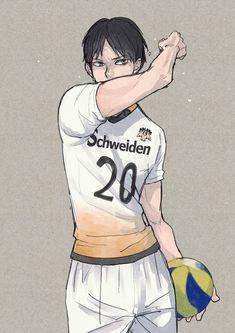 Haikyuu Kageyama, Haikyuu Manga, Kagehina, Haikyuu Wallpaper, Digital Painting Tutorials, Anime Angel, Drawing Poses, Volleyball, Anime Guys