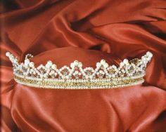 Diadema-bandeau della demi-parure di perle e diamanti della Regina Maria José d'Italia (Chiappe, 1930)