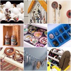Ten Beautiful DIY Ways To Store Jewelry!! #Home #Garden #Musely #Tip